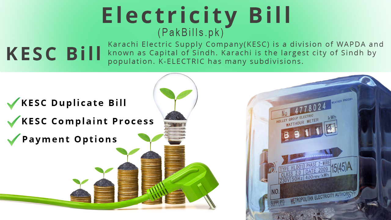 Check K-Electric Duplicate Bill, Payment and Complaint Process