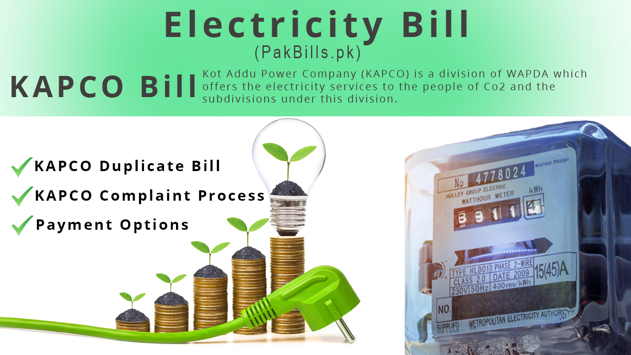 Check KAPCO Bill Duplicate, Payment and Complaint Process