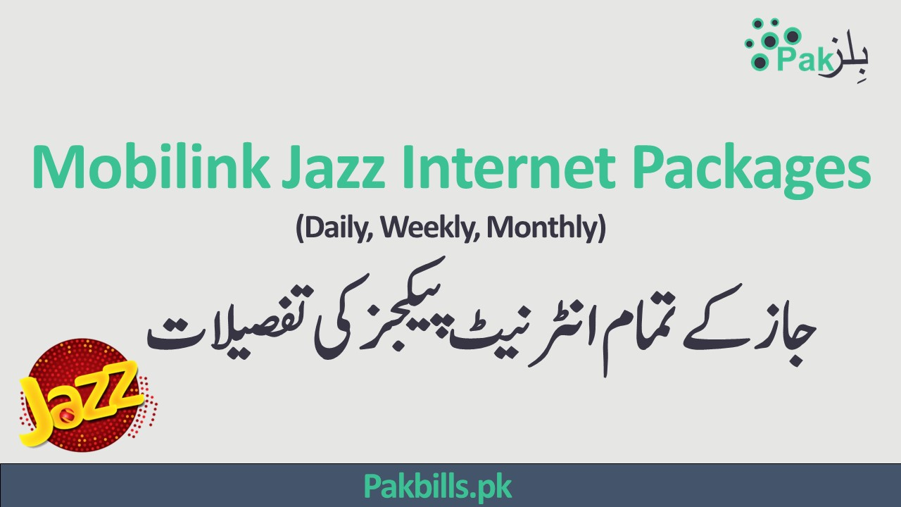 Jazz Mobilink All Internet Packages