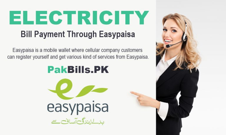 How To Pay Electricity Bill Through Easypaisa