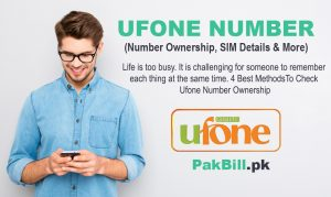 Check Ufone Number Ownership
