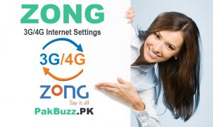 Zong Internet Settings